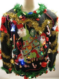 Stylish Christmas Costume Ideas For Your Holiday Party ... |Ugliest Sweater Contest Ideas