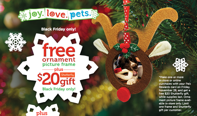 Petco Black Friday Deal Free Ornament Picture Frame Plus